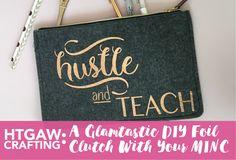 Tutorial on DIY MINC Foil Clutch from Target Dollar Spot by @PinkimonoGirl