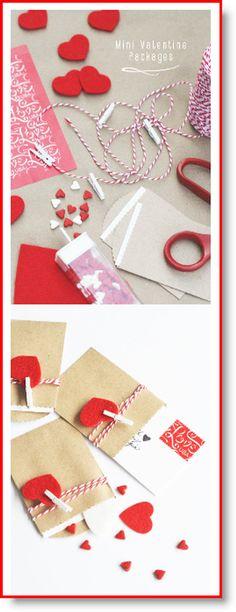 mini valentine packages ♥ http://felting.craftgossip.com/2015/01/03/make-mini-package-valentines-2/