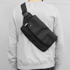 Waist Bag - Black Hip Bag, Men's Backpack, Girls Bags, Gentleman Style, Cloth Bags, Leather Men, Street Wear, Mens Fashion, Men Casual