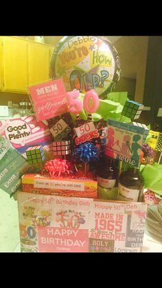 50th Birthday Gift Basket Ideas Birthday Gift Baskets
