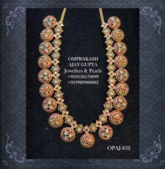 Gold Jewellery Design, Gold Jewelry, Beaded Jewelry, India Jewelry, Necklace Designs, Necklace Set, Costume Jewelry, Peacock, Chokers