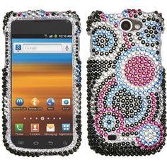 Amazon.com: Asmyna SAMT679HPCDMS003NP Premium Dazzling Diamante Diamond Case for Samsung Exhibit II 4G/Galaxy Exhibit 4G T679 - 1 Pack - Retail Packaging - Black: Cell Phones & Accessories