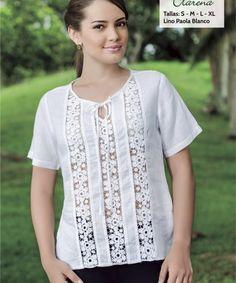 Blouse Styles, Blouse Designs, Dress Shirts For Women, Clothes For Women, Blouse Models, Clothes Crafts, Couture, Blouse Dress, Refashion