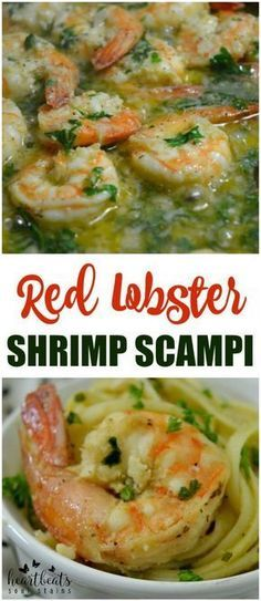 Red Lobster Shrimp Scampi Recipe: Make our delicious and easy copycat Red Lobster Shrimp Scampi Recipe as a great meal that everyone will rave over! pie, lobster, and cheese, Shrimp Dishes, Shrimp Recipes, Pasta Dishes, Fish Recipes, Pasta Recipes, Cooking Recipes, Healthy Recipes, Bariatric Recipes, Sausage Recipes