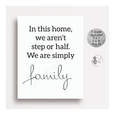 Gift Of Family Quotes Art Prints Quotes, Wall Art Quotes, Wall Art Prints, Wall Sayings, Step Parenting, Gentle Parenting, Step Family Quotes, Family Wall Art, Work Family