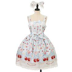 Cherish My juicy cherryリリージャンパースカート+カチューシャ  ロリィタファッション BABY THE STARS SHINE BRIGHT | ベイビーザスターズシャインブライト (11990 yen)