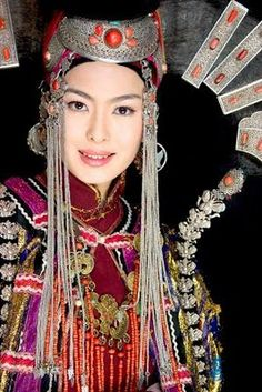 Beautiful Mongolian headdress.