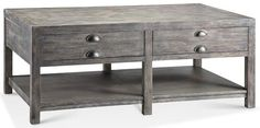 Accent Tables Bridgeport Rectangle Coffee Table w/ 2 Drawers by Stein World - Barrow Fine Furniture - Cocktail or Coffee Table Mobile, Dothan, Alabama & Pensacola, Florida