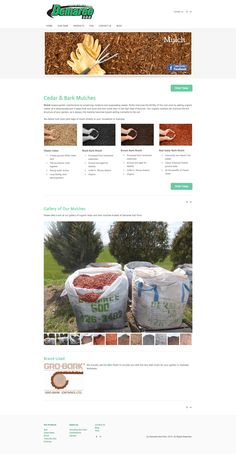 Demaree Sod mulches, this page describes all the different mulch products they have to offer.