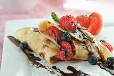 Gluten-Free Coconut Crepes with Fresh Berries!