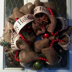 Laura this is Adorable. Loving the popular burlap and red gingham Christmas ideas for this year. I bought a bunch of the burlap last time was at JoAnn's. I still need to get more of that pretty rustic looking cranberry and cream gingham fabric we saw last week so I can finsih the crafts we started in time for Christmas. My new mantle garland is done and looks really really nice. Love it.  Roberta