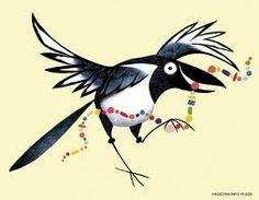magpie shiney words