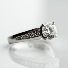 Round White Gold Diamond Engagement Ring Wedding Stuff, Dream Wedding, Wedding Rings, Wedding Ideas, White Gold Diamonds, Round Diamonds, Round Diamond Engagement Rings, Fairytale, Weddings
