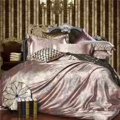 Home bedding set Jacquard duvet cover set 4pcs bed linens luxurious bedclothes queen king size
