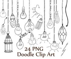 "Lightbulb doodle clipart: ""DOODLE CLIP ART"" Light Bulb clipart Light clip art String Lights lantern clipart Line Art Party Lights Doodle Drawings, Cartoon Drawings, Doodle Art, Clip Art, Light Bulb Drawing, Lantern String Lights, Buch Design, Light Clips, Party Lights"