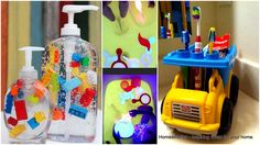 bathroom diy project for kids....love the legos in the handsoap