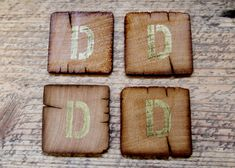Set of 4 Coasters - Personalized w/ ANY letter A-Z — Fixed price $25