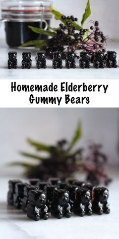 Elderberry Gummy Bears Recipe ~ Homemade elderberry gummies are easier than you think! With just a few ingredients, you can make your own immune boosting gummies in about 20 minutes. Elderberry Gummy Recipe, Elderberry Recipes, Elderberry Syrup, Homemade Gummy Bears, Homemade Gummies, Homemade Deodorant, Homemade Recipe, Few Ingredients, Amigurumi