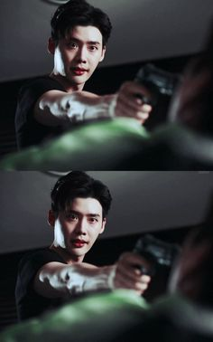 He doesn't need a gun to kill me. his intense stare is enough Hot Korean Guys, Korean Men, Korean Actors, W Two Worlds Wallpaper, Lee Jong Suk Wallpaper, Kang Chul, Lee Jung Suk, Doctor Stranger, Han Hyo Joo