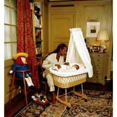 Iman watches over her newborn Lexi, New York City, August 2000