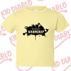 af3369402 World of Warm Crap Toddler Tee, Creative tshirt, snarky tees, ironic tees,hand  drawn,hip toddler clothes, cheap toddler clothes, geek things