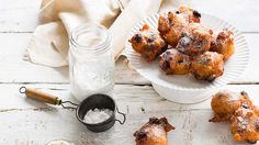 Apple and raisin fritters (olie bollen)   Served as a sweet snack between Christmas and New Year's Eve, olie bollen has many variations among Dutch families. Listen to Dutch chef Geert Elzinga, from Sydney's Essen Restaurant & Beer Cafe, talk us through his recipe.