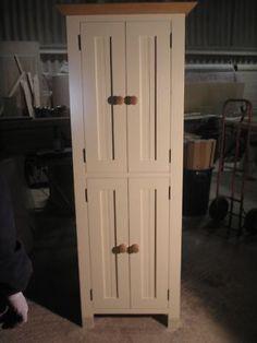 Freestanding Painted Pine Kitchen Larder Cupboard