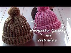 Gorro facil de ganchillo con punto elastico | proyecto Gaela - YouTube Crochet Baby Sweaters, Crochet Baby Clothes, Crochet Baby Hats, Crochet Beanie, Zig Zag Crochet, Crochet Granny, Diy Crochet, Crochet Stitches, Knitting Videos