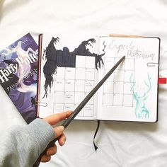 "44 Likes, 6 Comments - studycat (@_studycat) on Instagram: ""Expecto Patronum . . #month #monthlyspread #monthly #bujo #bujospread #bujoinspiration…"""