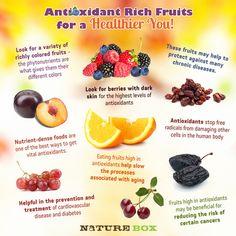 Antioxidant Rich Fruits by NatureBox ..  Weightloss and Nutrition Tips  http://pinterest.com/godinfitness/weightloss-and-nutrition-tips/