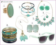 http://www.fashiondupes.com/2013/08/10-colour-dupes-50-shades-of-mint.html