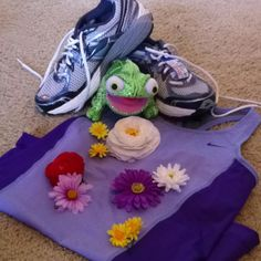 Disney princess half marathon rapunzel from tangled outfit. Flowers go in my hair. :)