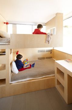 built-in bunk beds from Ski Resort Cabin by h2o Architectes