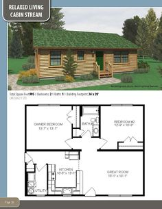 Small Cabin Plans, Log Cabin Floor Plans, Small House Floor Plans, Cabin House Plans, Tiny House Cabin, Dream House Plans, Tiny House Design, Pallet House Plans, Building A Cabin