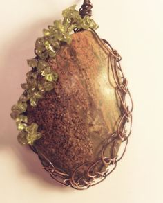 Unique Oxidized Copper Wire Mystery Stone with by CraftsbyLayna, $15.00