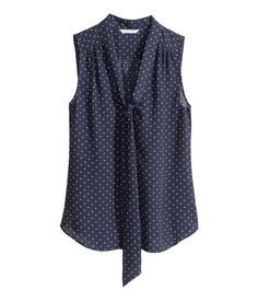 Sleeveless Tie Blouse $24.95 - Product Detail | H&M US