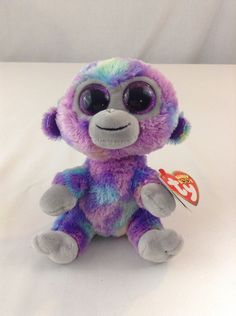 4539455c50c 2018 Ty Beanie Baby Boos Zuri Multicolored Monkey Stuffed Plush Animal Toy  Ty  Ty Beanie