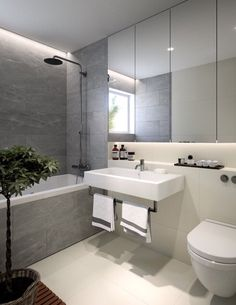 Gray Bathroom Ideas Worthy of Your Experiments Gray Bathroom Ideas – Welcome to our major gray bathrooms photo gallery showcasing several bathroom ideas of all types. Filter by style, size as well as many attributes. Master Bathroom Layout, Modern Master Bathroom, Minimalist Bathroom, Grey Bathrooms, Modern Bathroom Design, Bathroom Colors, Bathroom Interior Design, Small Bathroom, Wc Bathroom