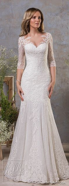 Amelia Sposa Fall 2018 Wedding Dresses #laceweddingdresses