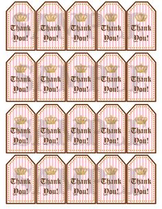 Juicy Couture Inspired Thank You Tags