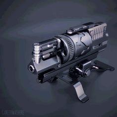 作为工业设计师的你要做的不仅仅是外观设计—枪支的工作原理动态3D图