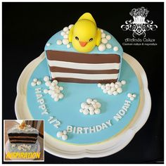 Discover recipes, home ideas, style inspiration and other ideas to try. Half Birthday Cakes, Baby Boy Birthday Cake, Baby Boy Cakes, Cakes For Boys, Birthday Fun, Birthday Ideas, Tooth Cake, Beautiful Birthday Cakes, 1st Birthdays