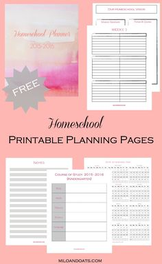 These FREE printable planning pages are the perfect thing to get your homeschool organized!