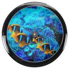 Underwater 11 Aqua Clock & Numeral Options