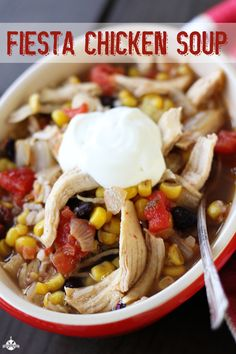 30 Minutes Fiesta Chicken Soup - so easy and delicious!