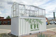 Unidades urbanas agrícolas transformam velhos contentores em estufas de produtos orgânicos