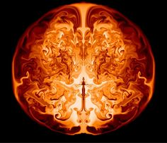 This image is a slice through the interior of a supermassive star of 55,500 solar masses along the axis of symmetry.