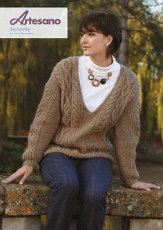 Serenity in Artesano Aran. Discover more Patterns by Artesano at LoveKnitting. The world's largest range of knitting supplies - we stock patterns, yarn, needles and books from all of your favorite brands.