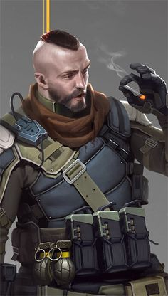 ArtStation - soldier with assault rifle, Jianli Wu