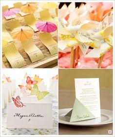 marque place mariage papier decoupage papillon